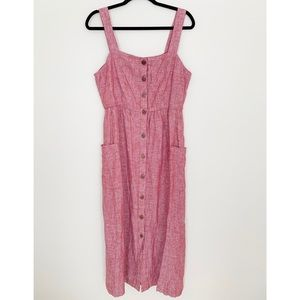 Red Rachel Zoe Linen Dress